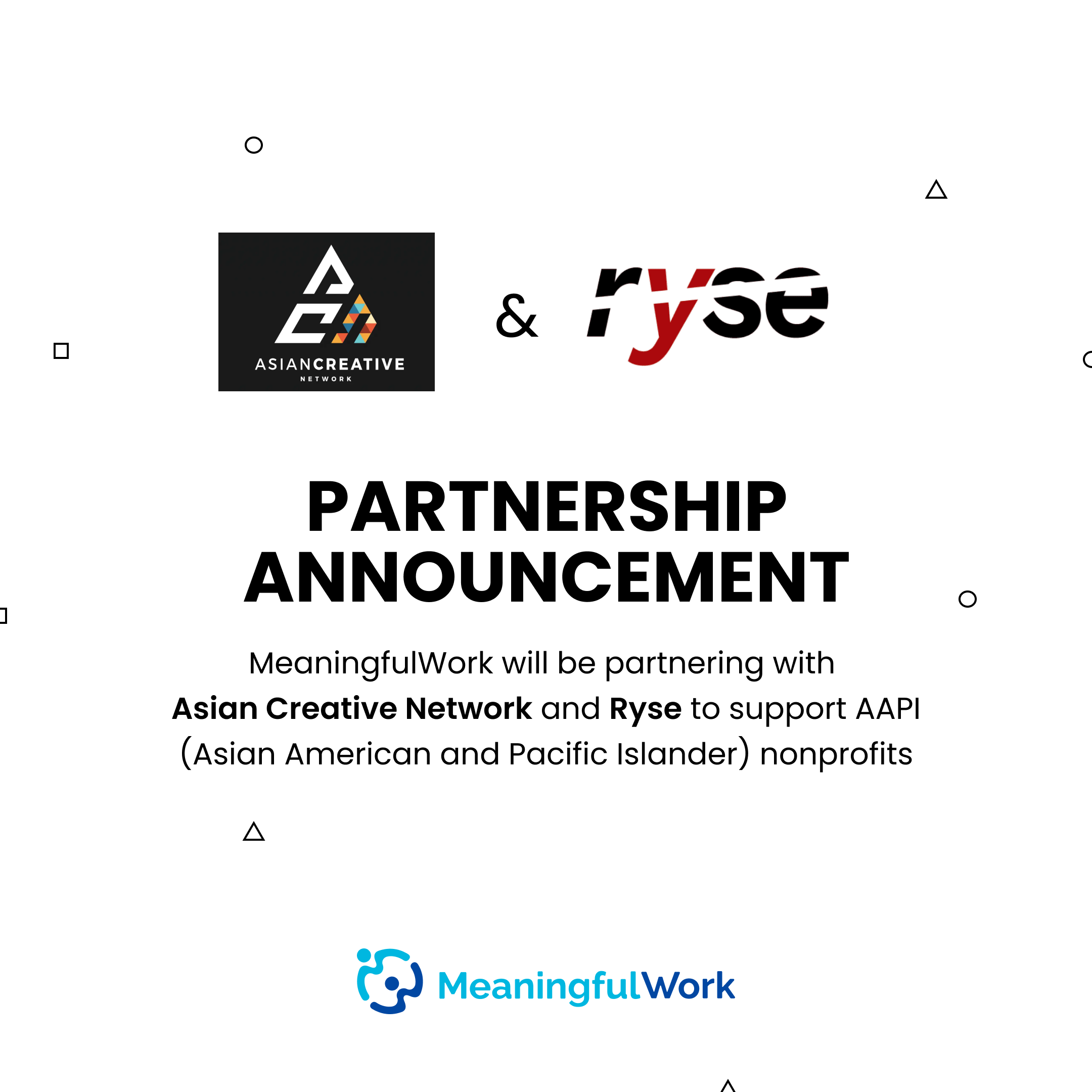 MeaningfulWork partnership announcement with ACN and Ryse